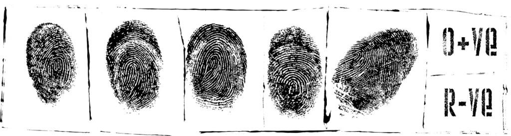 Fingerabdrücke - Polizeiakte