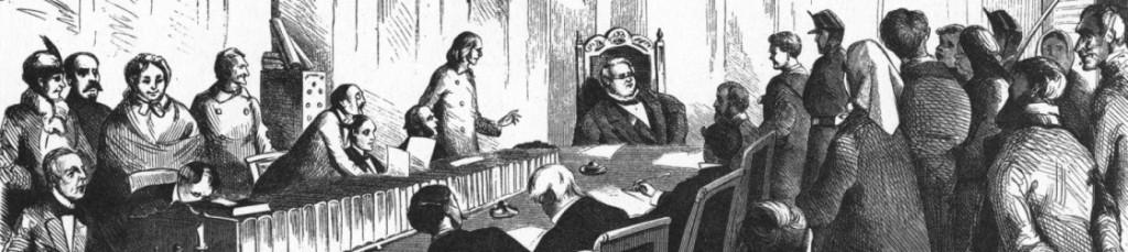 Angeklagter in einer Gerichtsverhandlung