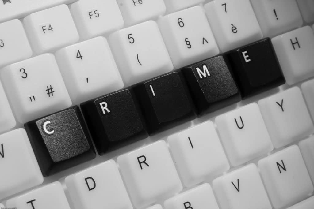 Tastatur als Symbol für Computerbetrug