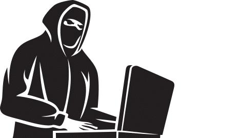 Täter bei einem Hackerangriff