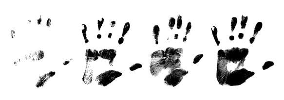 Handabdrücke: Beweismittel in Strafverfahren.
