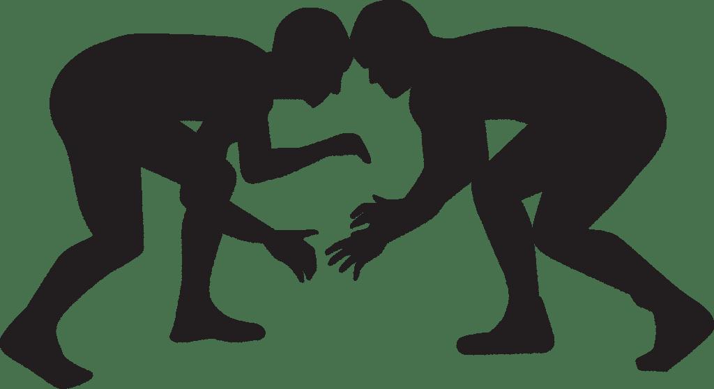 Beginnender Kampf in schwarz-weiß